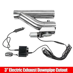 3 76mm Electric Exhaust Downpipe Cutout E Cut Out Valve Controller Remote Kit