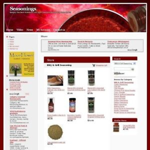 Established Seasoning Online Affiliate Business Website For Sale Free Domain