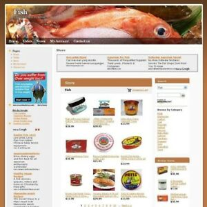 Fish Gourmet Food Store Online Business Website For Sale Work At Home Make Money