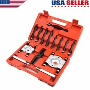 14pcs Bearing Separator Puller Set 2 And 3 Splitters Remover And Beari