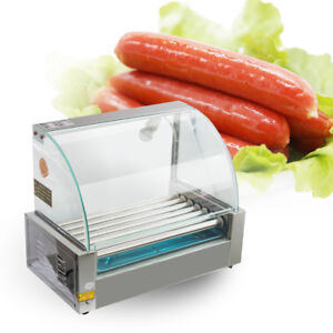 Hot Dog Roller Machine 7 Hot Dog Roller Grill Machine With Cover Commercial us