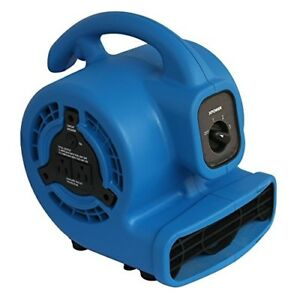 Mini Mighty Air Mover 3 Speed Floor Fan Dryer Utility Blower With Power Outlet