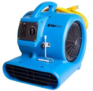 Air Mover Carpet Floor Dryer 3 Speed Blower Fan 1500 Rpm 3 4 Hp W Power Outlet