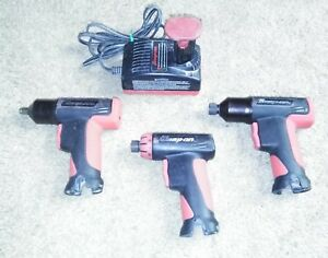 Snap On 3 8 Cordless Impact Wrench 2 1 4 Hex Drivers W Batterie Charger