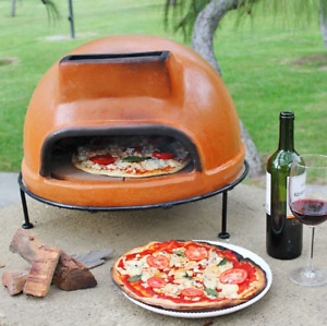 Outdoor Countertop Kitchen Clay Pizza Grill Stove Baker Maker Oven Wood Fire Pan