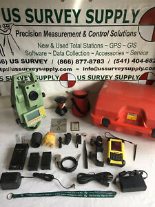 Leica 3 Tcra1103 Xr Reflectorless Robotic Total Station Complete System