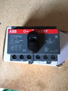 Abb Ot25f3c Open Disconnect Transfer Double Throw Switch 25a 3 Pole 600v