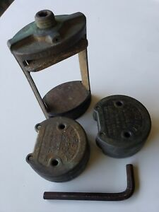 Antique Vintage Edw Handler Sons Dental Denture Press Hanau Varsity Molds