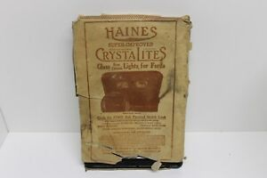 Haines Crystalites Rear Vintage Window Lights For Ford Model T Car 1923