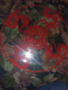 Glass Chinese Dragon Plate