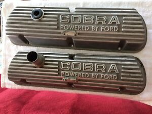 Oem Open Letter Cobra Valve Covers 260 289 302 351w Ford