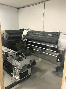 Two Hp Latex L25500 60 Wide Format Printers One Price
