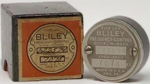 Bliley Crystal Type Ld2 Frequency Control Unit 7078 Kc Vintage Radio Component