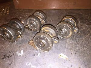2 5 8 Vintage 1920 s Hamilton No 6 Industrial Factory Casters Cleaned