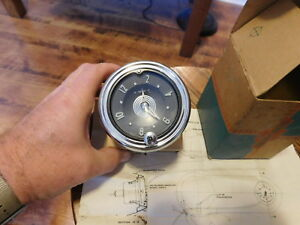 Chevrolet Dash Spring Wind Clock 1953 1954 Passenger Cars Nos With Instructions