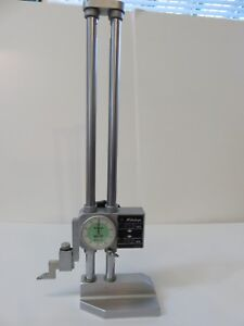192 116 Mitutoyo 12 Stainless Precision Twin Beam Dial Height Gauge W Scribe