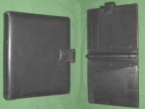 8 5x11 1 0 Black Leather Day Runner Planner Binder Franklin Covey Monarch