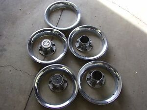 Chevy Truck Rally Wheel Rings And Center Caps Used Good Condition