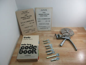 Curtis No 14 Locksmith Key Cutter Tool 1960s Ford 1970s Gm Code Book