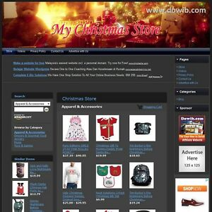 Christmas Store Fully Automated Functional Affiliate Online Website For Sale