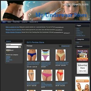 Girl s Panties Store Fully Automated Online Affiliate Business Website For Sale