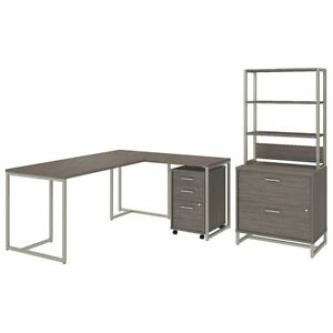 Method 72w L Shaped Desk With 30w Return File Cabinets And Hutch