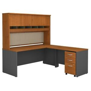 Series C 72w L Shaped Desk With Hutch And Mobile File Cabinet