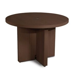 42 Round Conference Table Mocha