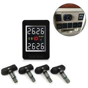 Car Tpms Wireless Tire Pressure Monitoring System 4 Internal Anti theft Sensors