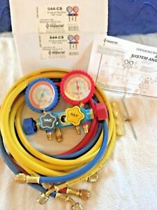Imperial 4 valve Manifold 60 Hoses sight Glass R22 404a 410a 644 cs