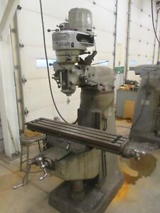 Used Bridgeport Step pulley Type Vertical Milling Machine Single Phase db