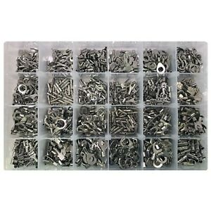 1200 Piece High Temperature Non insulated Wire Terminal Connector Assortment Kit