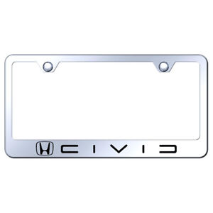 License Plate Frame With Honda Civic Reverse C Name On Steel licensed