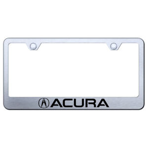License Plate Frame With Acura Laser Etched On Brushed officially Licensed