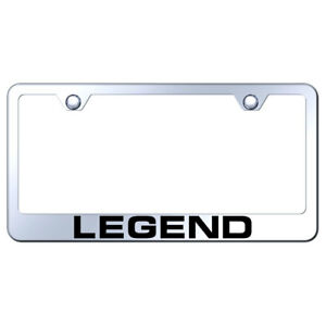 License Plate Frame With Acura Legend On Mirrored officially Licensed