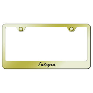 License Plate Frame With Acura Integra Script On Gold officially Licensed