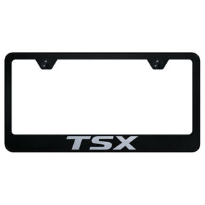 License Plate Frame With Acura Tsx Name On Black officially Licensed