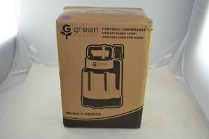 Green Expert 203618 Portable Submersible Utility Water Pump 1 4 Hp