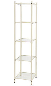 Open Display Tower Ivory 18 W X 18 X 77 H Retail Shelves Boutiques Salons