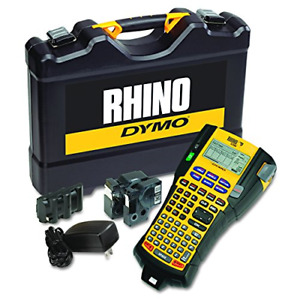 Dymo Rhino 5200 Industrial Label Maker Cary Case Kit With 2 Rolls Of Vinyl 3 4