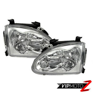 93 97 Honda Del Sol S si Jdm Crystal Clear Head Lights Left right Assembly Set