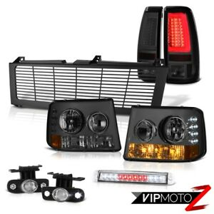 99 02 Silverado Ls Tail Lights Billet Style Grille Roof Cargo Lamp Fog Light Bar