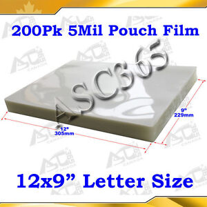 Clear Style 5mil Pouch Laminating Film 9x12 200sheet For Thermal Hot Laminator