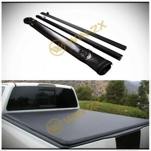 Soft Blk Roll Up Tonneau Cover Fit 07 13 Silverado Sierra 1500 New Body 5 8 Bed