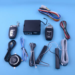 Quality Pke Car Alarm System Push Button Starter Passive Keyless Entry 12v