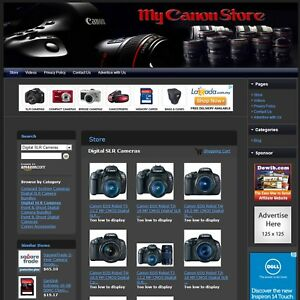 Canon Camera Store Online Affiliate Business Website For Sale Free com Domain