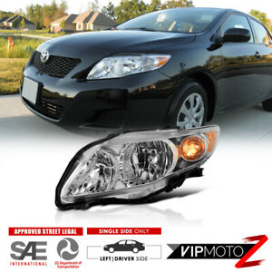 Driver Side Headlight Assembly For 2009 2010 Toyota Corolla Factory Style