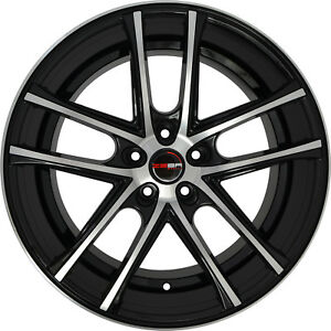 4 Gwg Zero Stagg 22 Inch Black Machined Rims Fits Ford Shelby Gt 500 2007 2018