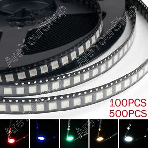 5050 Led Smd Smt Plcc 6 Red Green Blue Yellow White 5colours Light Diodes Bs Usa