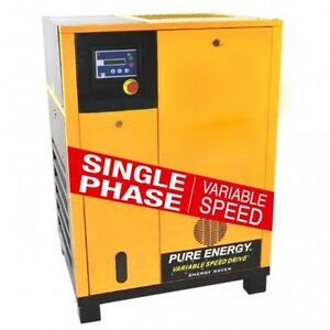 15 Hp Sp Vsd Rotary Screw Air Compressor By Eaton No China Parts 10yr Warranty